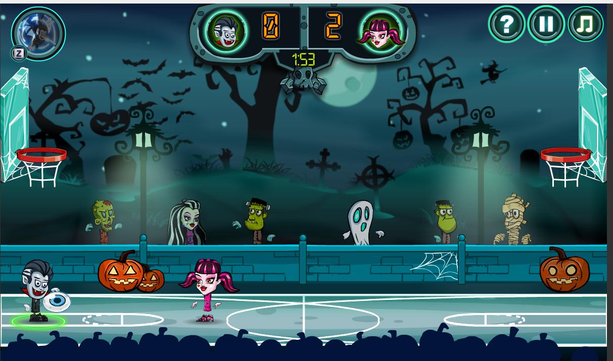Play Halloween Basketball Legends game online
